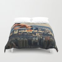 political Duvet Covers featuring I lost my light by Laura Nadeszhda