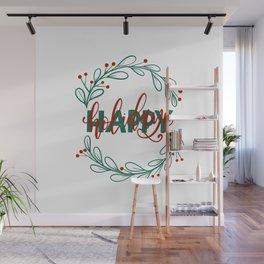 Holiday Vibes Wall Mural