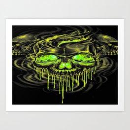 Glossy Yella Skeletons Art Print
