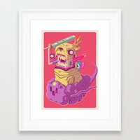 finn and jake Framed Art Prints featuring Finn and Jake by Mike Wrobel