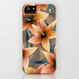 Orange lilies. Lily iPhone Case