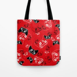 Video Game Red Tote Bag