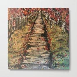 Fall Path Metal Print