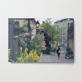 Who said Oslo is grey? Metal Print