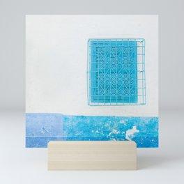 Two Blue Shuttered Windows Mini Art Print