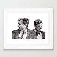 true detective Framed Art Prints featuring True Detective by Rik Reimert