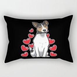 Rat Terrier Dog Gift Rectangular Pillow