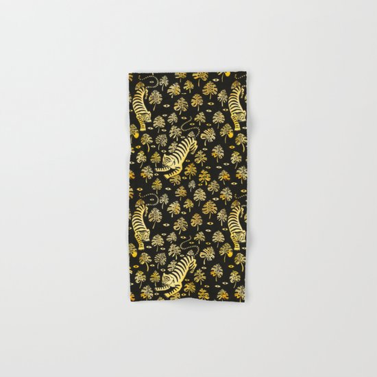 Tiger jungle animal pattern Hand & Bath Towel