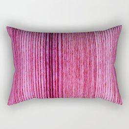 Pink magenta hand painted wood stripes pattern Rectangular Pillow
