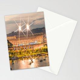 Pittsburgh Baseball Park Night River Summer Pennsylvania Print Stationery Cards