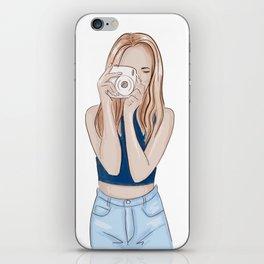 Girl photographer iPhone Skin