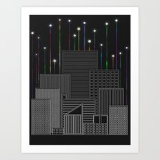 City Space To The Stars Art Print