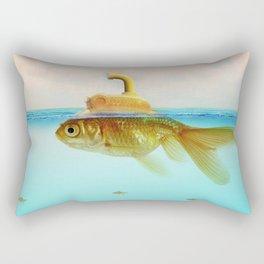Submarine Goldfish Rectangular Pillow