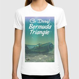 Bermuda Triangle diving poster T-shirt