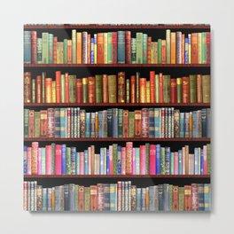 Antique books ft Jane Austen & more Metal Print