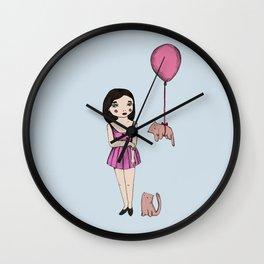 The cat balloon Wall Clock