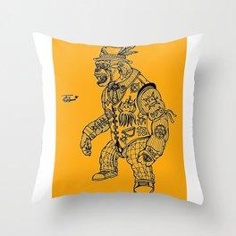 King Kong Orange Throw Pillow