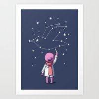 constellation Art Prints featuring Constellation by Freeminds