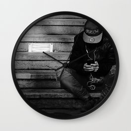 Alone with his mind Wall Clock