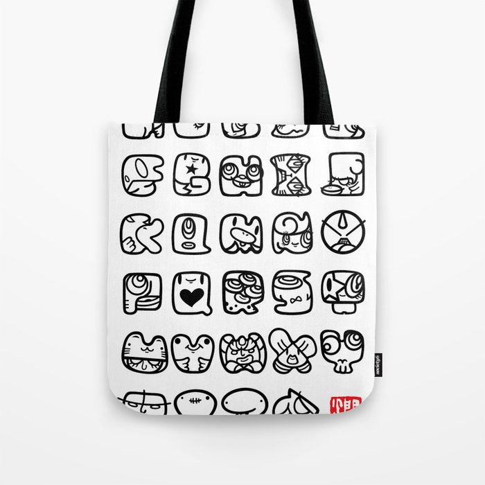 ABC / white & black Tote Bag