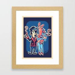 Retro Chip & Bibi Framed Art Print