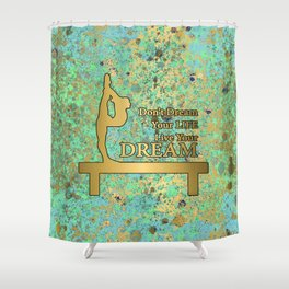 Dream Your Life-New Blues and Gold Patina Design Shower Curtain