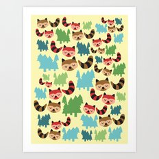 The Bandit Raccoons Art Print