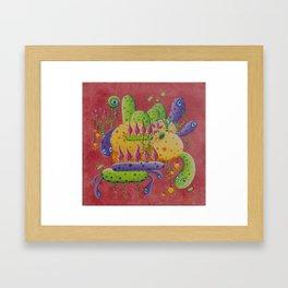 Macro drop Framed Art Print