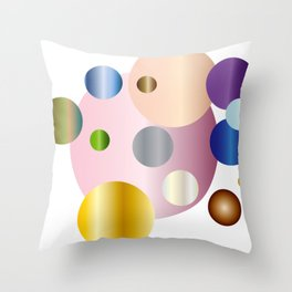 planetarium abstract geometrical design Throw Pillow