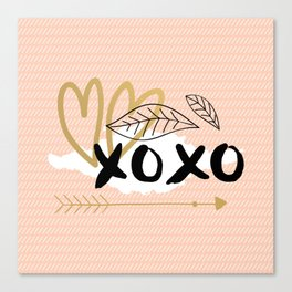 xoxo pink Canvas Print