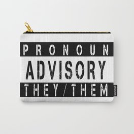 Pronoun Advisory (They/Them) Carry-All Pouch