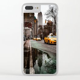 23rd Street Puddles Clear iPhone Case
