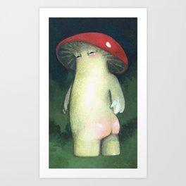Toadstool Tushie Art Print