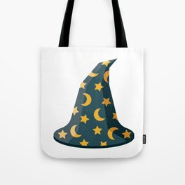 Magical Wizard's Hat with Stars and Moons Tote Bag