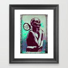 Desperate Zombie Framed Art Print