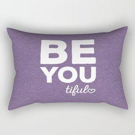 Be-You-Tiful Positive Quote Rectangular Pillow