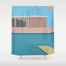 A Bigger splash Shower Curtain