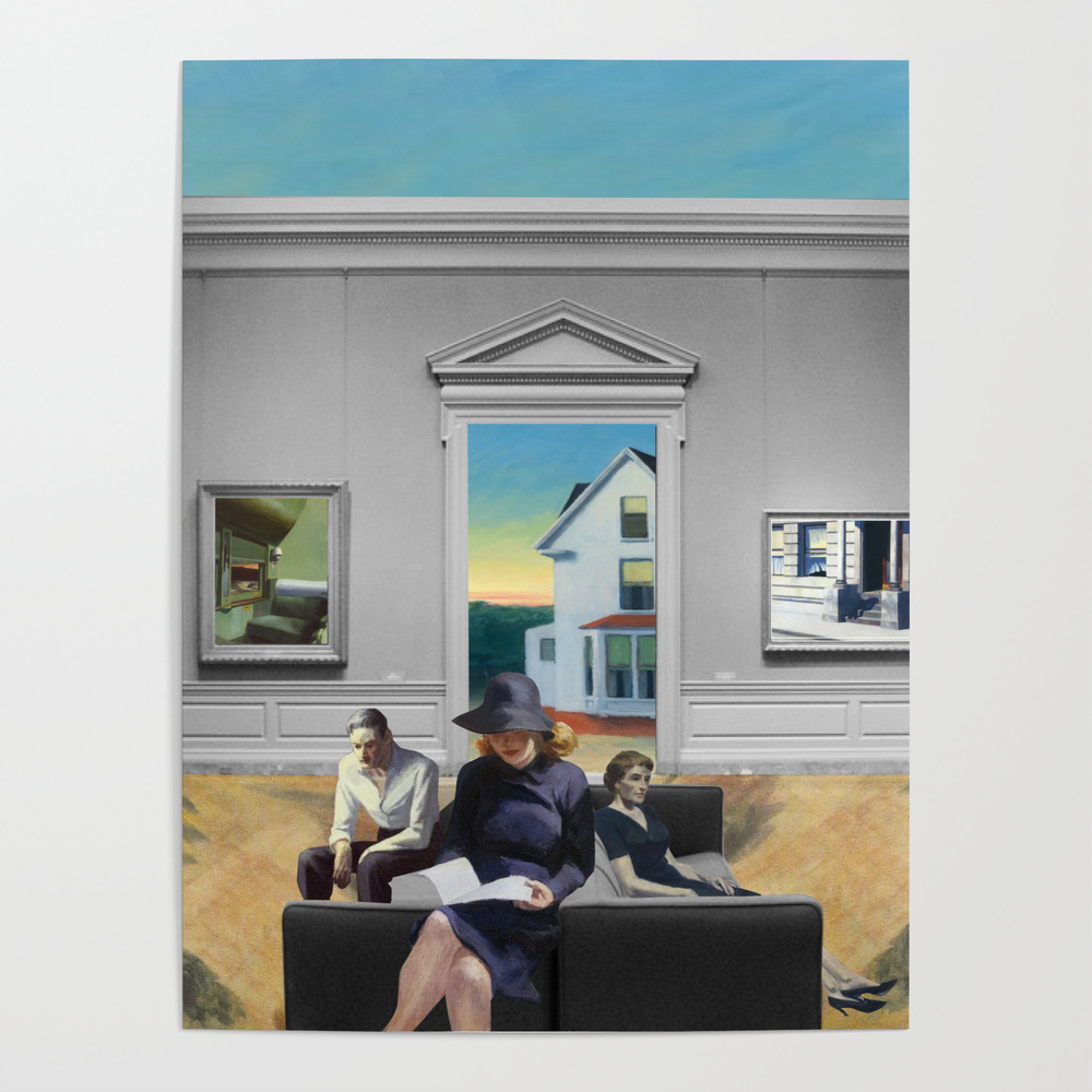 Edward Hopper Brought to Life Poster by casazzart
