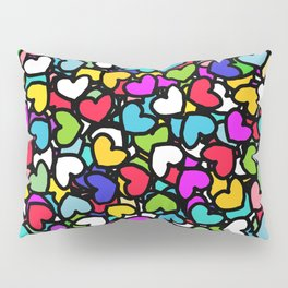 Rainbow LOVE Hearts Pillow Sham