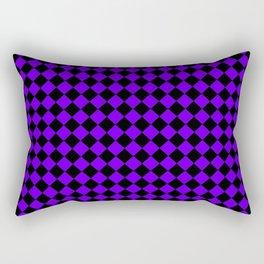 Black and Indigo Violet Diamonds Rectangular Pillow