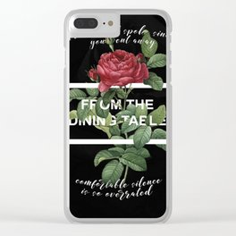Harry Styles From The Dining Table Artwork Clear iPhone Case