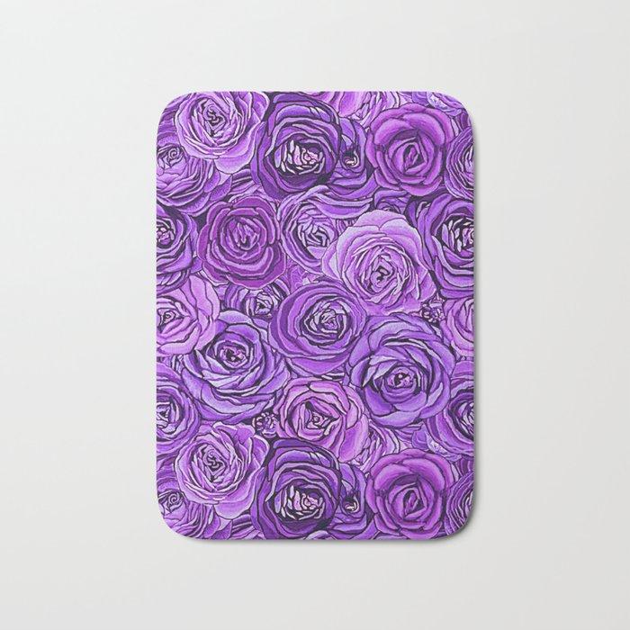 valentines roses in purple / ultraviolet Bath Mat