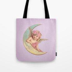 Victorian Moon Angel Tote Bag