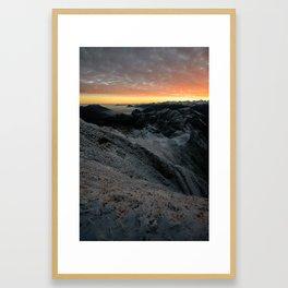 Sunrise from Brienzer Rothorn Framed Art Print