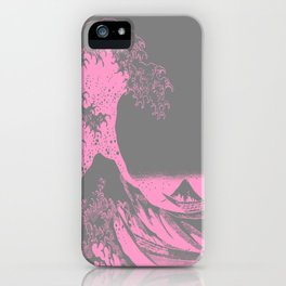 The Great Wave Pink & Gray iPhone Case
