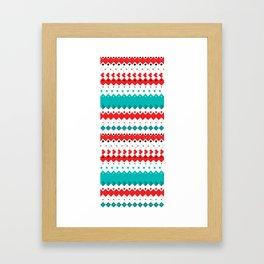 Rombo Pattern Framed Art Print