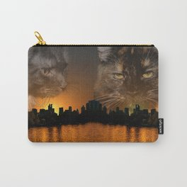Maine Coon over New York Carry-All Pouch