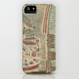Vintage Lake George French and Indian War Map (1768) iPhone Case