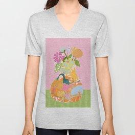 Colourful Garden Unisex V-Neck