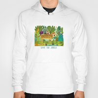 jungle Hoodies featuring Jungle by Milanesa